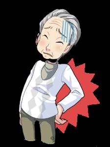 腰痛3:男性、高齢(カラー)